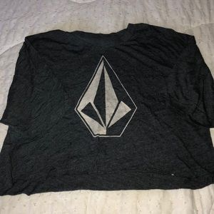 Gray Volcom Crop Top